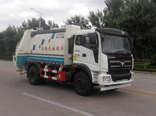 国五福田瑞沃压缩式垃圾车(天燃气)