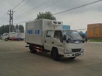 国五江铃双排座冷藏车